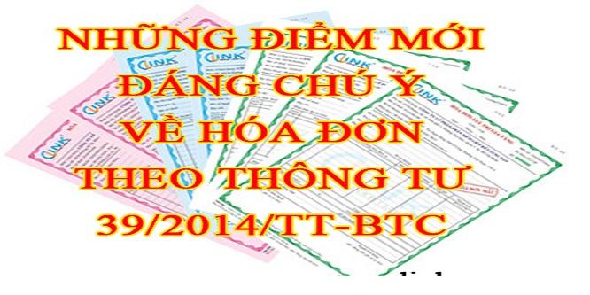 Một số điểm mới TT 39/2014/TT-BTC - Đại lý thuế Công Minh
