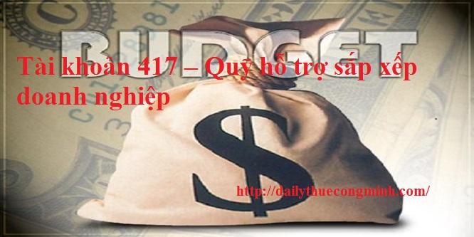 Tài khoản 417 theo Thông tư 200/2014/TT-BTC
