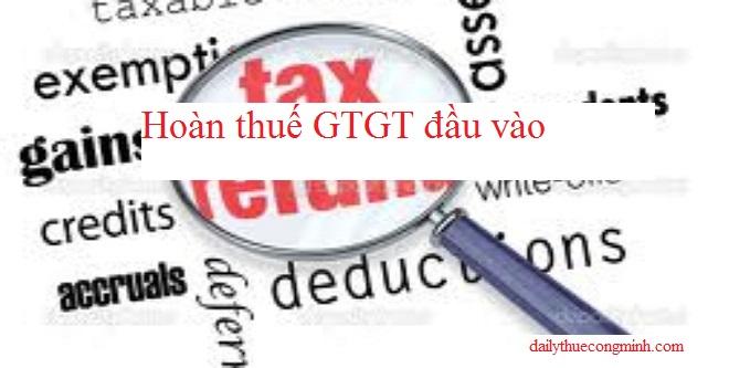 Thuế GTGT đầu vào cho các mặt hàng không chịu thuế GTGT