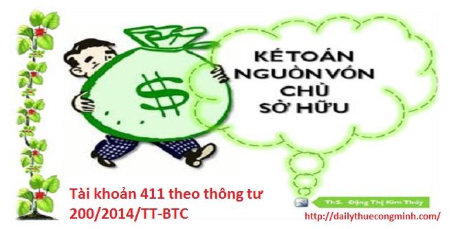 Tài khoản 411 theo thông tư 200/2014/TT-BTC