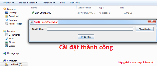 Hướng dẫn cài đặt phần mềm KÝ OFFLINE FILE XML