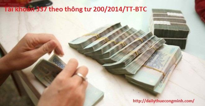 Tài khoản 337 theo thông tư 200/2014/TT-BTC