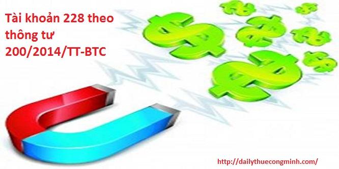 Tài khoản 228 theo thông tư 200/2014/TT-BTC