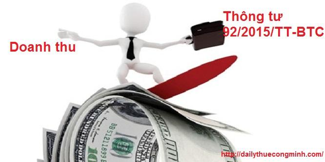 Cách xác định doanh thu của cá nhân kinh doanh theo Thông tư 92/2015/TT-BTC