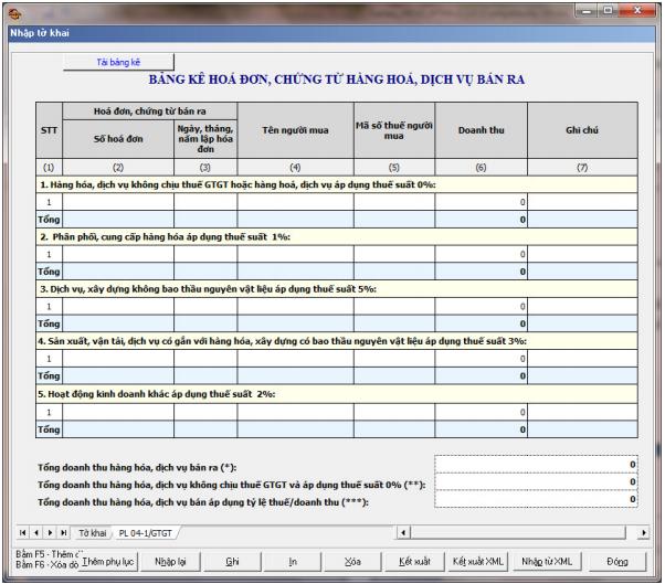 Hướng dẫn cách lập phụ lục 04-1/gtgt theo phần mềm HTKK
