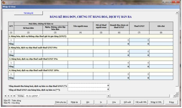 Hướng dẫn lập mẫu 01-1/GTGT theo HTKK mới nhất hiện nay