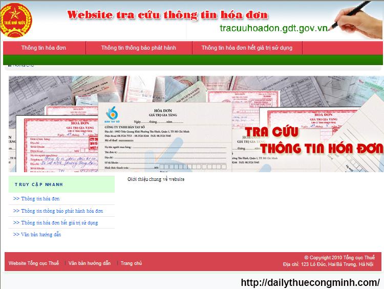Hướng dẫn tra cứu thông tin hóa đơn mới nhất của TCT