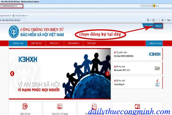 Hướng dẫn đăng ký tài khoản bảo hiểm xã hội qua mạng
