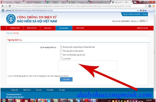 Hướng dẫn ngừng dịch vụ tài khoản giao dịch qua mạng BHXH