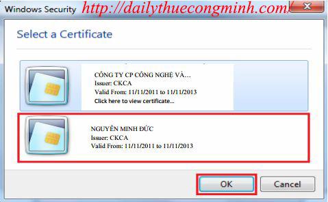 Hướng dẫn sử dụng chữ ký số trên file Word và Excel 2010