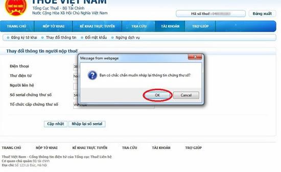 Hướng dẫn thay đổi số Serial cho chữ ký số
