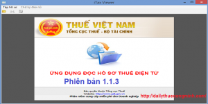 Phần mềm Itaxviewer 1.1.3