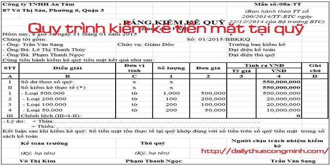 Quy trình kiểm kê quỹ tiền mặt và cách xử lý