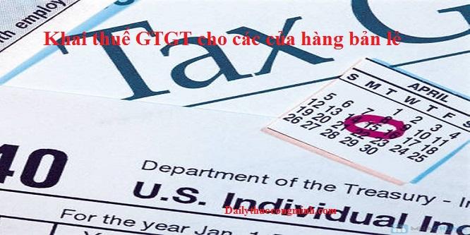 khai thuế GTGT cho các cửa hàng bán lẻ