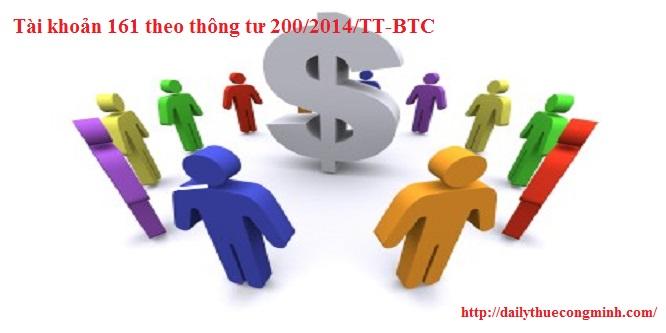 Tài khoản 161 theo thông tư 200/2014/TT-BTC