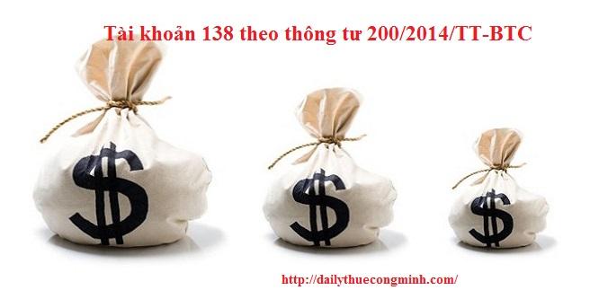 Tài khoản 138 theo thông tư 200/2014/TT-BTC