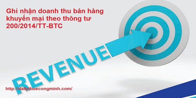 Ghi nhận doanh thu bán hàng khuyến mại theo TT 200/2014/TT-BTC