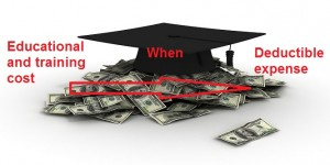 Educational and training cost is deductible expense