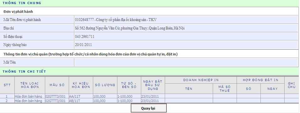 Tra cứu thông tin MST nộp thay NTNN của: Công ty TNHH VINA ...